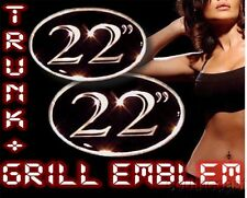 "22"" WHEEL/RIM SIZE GRILL+TRUNK EMBLEMS! Chrysler 300/300C 05 06 07 08 09 10"