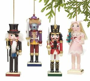 The Nutcracker Rat Mouse King Character Set of 4 Christmas Tree Hanging Ornament