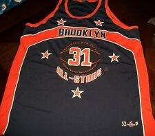 Brooklyn All Stars Official Street Ball Champions Basketball Jersey Size 52 Rare