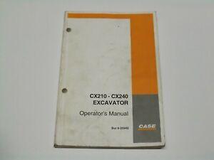 CASE CX210 - CX240 Excavator Operator's Manual 2001