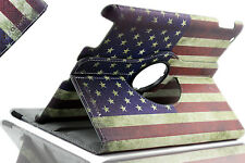 American Flag Apple iPad 2/3/4 360 Degree Rotating Stand Smart Case (USA FLAG)