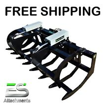 "Es 78"" Hd Grapple- New Skid Steer Quick Attach Brush Grapple, Free Shipping"