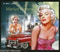 TOGO  2015 MARILYN MONROE  SOUVENIR SHEET MINT NH