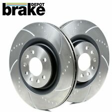 VW Golf 3.2 R32 Front Brake Discs Brake Depot 334mm Dimpled and Grooved