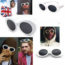 Clout Goggles Rapper Glasses Sunglasses Fancy Dress White Oval Shades Grunge UK