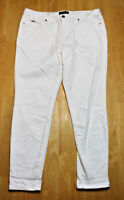 Women's Nine West Gramercy Skinny Ankle Pure Luxe Denim white Jeans