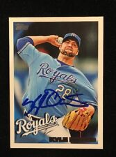 KYLE DAVIES 2010 TOPPS AUTOGRAPHED SIGNED AUTO BASEBALL CARD 382 ROYALS