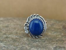 Navajo Indian Jewelry Sterling Silver Lapis Ring Size 7 Cadman
