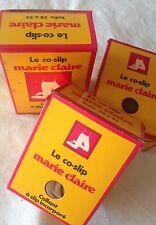 LOTS DE 3 PAIRES DE COLLANTS CO-SLIP MARIE CLAIRE MODE VINTAGE 38/40/42 NEUF