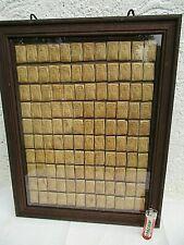 120 antik Phra Somdej Buddha Ton Amulett*e, in altem Holz Rahmen Thailand  *1960