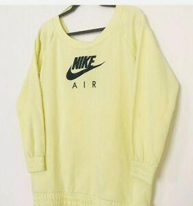 NWT Nike NSW Sportswear Air Fleece Barely Volt Black Oversized Small EU 6 US 3