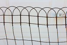 Vintage Braided Loop Wire Fence  Farm Primitive Décor c. 1930's Rustic Roll Top
