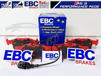 FOR AUDI RS3 8V 2015- REAR HIGH PERFORMANCE SPORT EBC RED STUFF BRAKE PADS SET