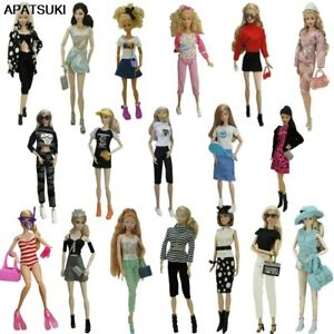 """Fashion Outfits For 11.5"""" 1/6 Doll Clothes Set Shoes Glasses Crown Purse Hat Toy"""