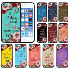 For Apple iPod Touch 5 5th/ 6 6th Gen Bible Verses TPU Black Silicone Case Cover