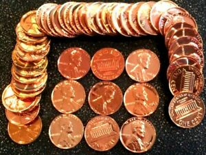 1 1963 Memorial Cent Red Gem Proof Roll (50 coins)
