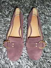 e5cca98eb74  258 Tory Burch Marsden Melbac Wine Red Suede Slip On Loafers US 6.5