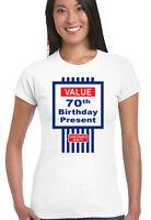 da donna divertente 70° COMPLEANNO T-shirt Tesco AFFARE stile