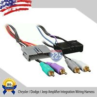 Car Stereo AMP Integration Wiring Harness Chrysler Dodge Jeep Plymouth 1984-2002