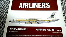 AIRLINERS #25: CONVAIR 880 (AIRLINE PUBLICATIONS & SALES LTD 1977)