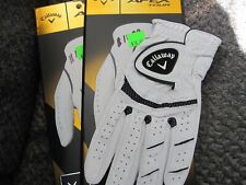 2 CALLAWAY APEX TOUR GOLF GLOVES SIZE SMALL 2 NEW MENS
