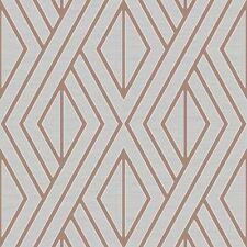 Papier Peint Géométrique Gris/Doré Rose - Poire Arbre UK30506 Metalique