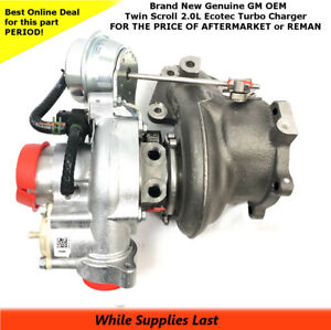 K04 Twin Scroll TURBO CHARGER 2.0L ECOTEC NEW GM OEM 12658317  12643932