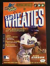 Kirk Gibson Signed Cereal Box Wheaties Baseball Autograph LA Dodgers MVP JSA