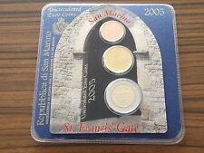 San Marino 2005 Euro KMS Minikit / Coincard 2 cent + 20 + 2 € Kursmünze mini kit