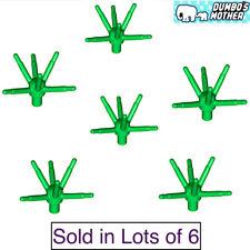 100% Lego 6 Green Flower Stem w/ Bar & 6 Stems Wedding Bouquet Grass Foliage