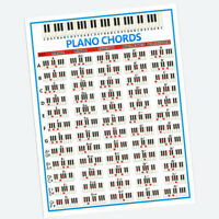 PIANO CHORDS POSTER SMALL/LARGE WALL POSTER CHART FOR BEGINNERS 22.44x16.14inch