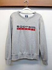 EUC Roots Canada Crewneck Sweatshirt Gray Cotton Blend Embroidered Size Large