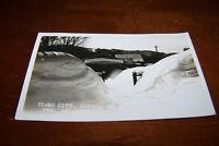 Rare Antique RPPC Real Photo Postcard AZO 1926-1940s Idaho City Snow 2/14/1936