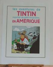Herge serigraphie Tintin Amerique noir et blanc 2000 ex Moulinsart