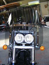 Harley Davidson Fat Bob Estilo Americano parabrisas Personalizado, Claro o gris