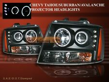 07-10 CHEVY TAHOE/SUBURBAN/AVALANCHE PROJECTOR HEADLIGHTS LED BLACK AMBER CCFL