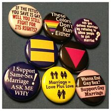 "GAY RIGHTS 1"" buttons badges EQUAL HUMAN GAY MARRIAGE"