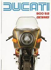 1983 Ducati 900S2 dual seat, 4 page brochure