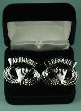 AIRBORNE PARATROOPER Cuff Links in Presentation Gift Box Army cufflinks