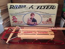"Radio Flyer 20"" Little Wood Sled Model 551 IN BOX VINTAGE For Dolls & Bears! HTF"