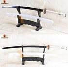 Full Tang Samurai Katana Japanese Sword Black Folded Steel Blade Bo-Hi Sharp