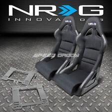 NRG DEEP BUCKET RACING SEATS+CUSHION+STAINLESS STEEL BRACKET FOR MK4 GOLF/JETTA(Fits: Golf)