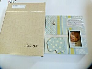 """Heartfelt Darling Baby collection """"Boy"""" Picture Frame & Clock w/ Christian verse"""