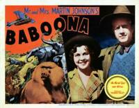 OLD MOVIE PHOTO Baboona Lobby Card Osa Johnson Martin Johnson 1935