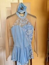 Sharene ice skating dress, baby blue, ladies small
