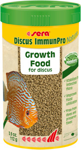 Sera Discus ImmunPro Nature 112g / 250ml Growth Food Probiotics for Discus Fish