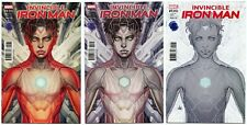 Invincible Iron Man #1 Legacy Variant Set of 3 Color, Copic, Line Art Artgerm