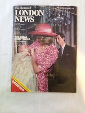 1982 Illustrated LONDON NEWS Prince William Christening PRINCESS DIANA & CHARLES