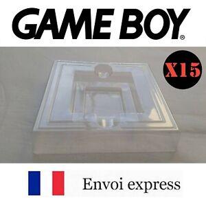 15X Cales plastiques neuves boite de jeu Game BOY GB - insert inner tray inlay