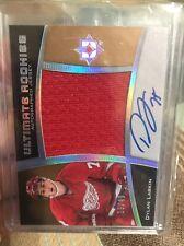 2015-16 Ultimate Dylan Larkin RC Rookie Jumbo Jersey AUTO 19/49 Red Wings